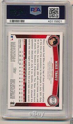 2011 Topps Update Diamond Anniversary Mike Trout Flagship Rookie RC US175 PSA 9