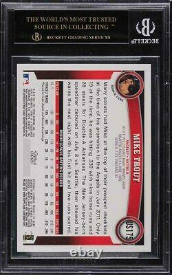 2011 Topps Update Mike Trout ROOKIE RC #US175 BGS 10 BLACK LABEL