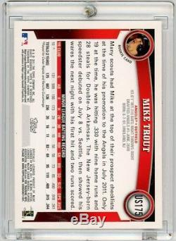 2011 Topps Update #US175 Mike Trout Rookie Card RC ANGELS