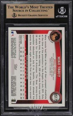 2011 Topps Update Wal-Mart Blue Border Mike Trout ROOKIE RC #US175 BGS 10