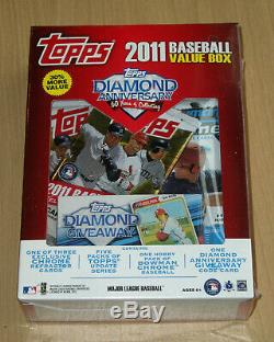 2011 Topps baseball factory sealed Value box 5 Update + 1 Bowman Chrome Trout