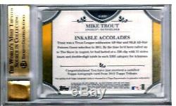 2012 Topps Tribute Autographs #MTR1 MIKE TROUT Auto RC BGS 9.5 GM SER#43/99