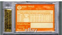 2013 Topps Heritage #430B MIKE TROUT ACTION SP BGS 9.5 2012 AS Rookie Very Rare