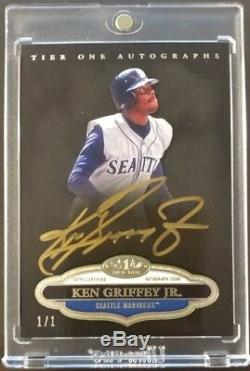 2013 Topps Tier One Ken Griffey Jr. Gold Autograph On Card Auto 1/1 Mariners