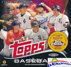 2014 Topps Baseball EXCLUSIVE Factory Sealed MEGA Box! Includes Chrome Update