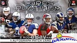 2015 Topps Platinum Football Factory Sealed HOBBY Boxes-3 AUTOGRAPHS! Loaded