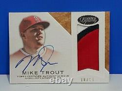 2016 Topps Dynasty Mike Trout Patch Auto 10/10 Angels