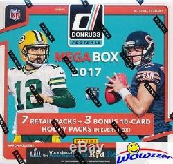 2017 Donruss Football EXCLUSIVE Factory Sealed 10 Pack MEGA Box with3 HOBBY PACKS