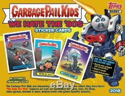 2018 Garbage Pail Kids S1 We Hate The 80's Sealed Box 24ct Look For Sketch Plate
