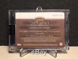 2018 Hank Aaron Topps Dynasty Gold Dual Name Tag Patch Autograph Auto 1/1