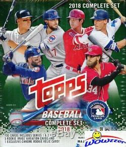 2018 Topps Baseball 708 Cards Retail Factory Set-Acuna, Torres+CHROME RC RELIC