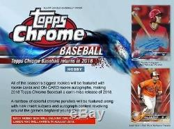2018 Topps Chrome Baseball Hobby Box New and Factory Sealed 2 Autos
