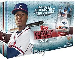 2018 Topps Clearly Authentic Baseball Hobby Edition Factory Sealed 1 Pack Box