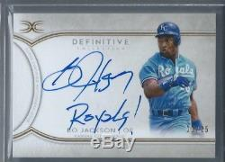 2018 Topps Definitive Bo Jackson INSCRIBED AUTO signed Royals #22/25
