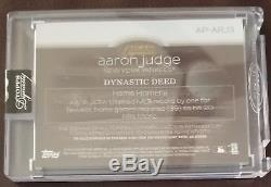 2018 Topps Dynasty AARON JUDGE 5/10 3-color Patch Auto YANKEES