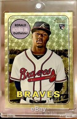 2018 Topps Heritage High Number Ronald Acuna 1/1 Superfractor Rc Non Auto