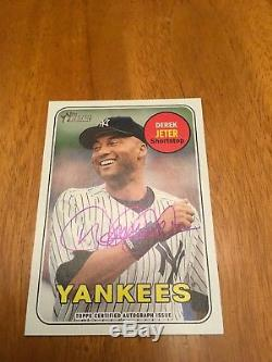 2018 Topps Heritage High Numbers Real One Derek Jeter AUTO Yankees Only 1 Here