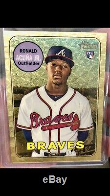 2018 Topps Heritage Ronald Acuna Rc Gold Superfractor Non Auto 1/1