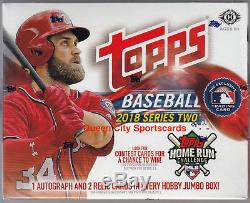 2018 Topps Series 2 Baseball Factory Sealed Jumbo Box
