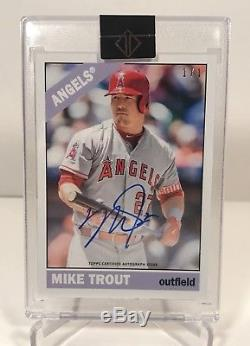 2018 Topps Transcendent Mike Trout (1/1) Through The Years Autograph (MT-1966)