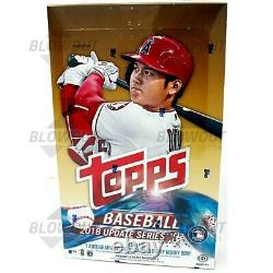 2018 Topps Update Series Sealed Baseball Hobby Box From a Sealed Case