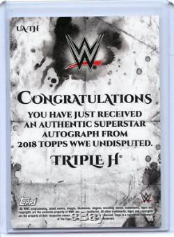 2018 Topps Wwe Undisputed Triple H Gold Autograph #1/10 Ua-th Auto Ebay 1/1