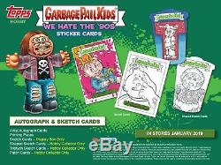 2019 Garbage Pail Kids We Hate The 90s Collector Ed Box Presale Release 1/16/19