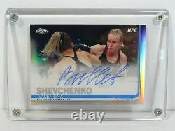 2019 Topps Chrome UFC Autographed Trading Card Valentina Bullet Shevchenko