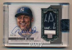 2019 Topps Dynasty DEREK JETER Encased Game Used Patch Auto #7/10