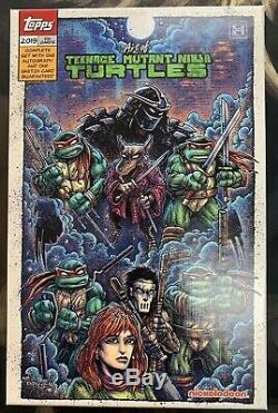 2019 Topps The Art Of TMNT Trading Cards Complete 100 Card Set