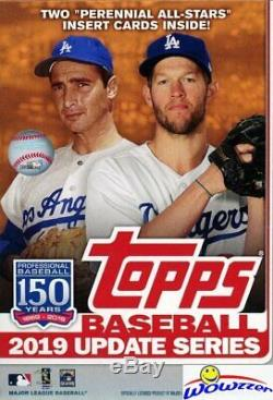2019 Topps UPDATE Baseball EXCLUSIVE Hanger CASE-8 Factory Sealed Boxes-536 Card