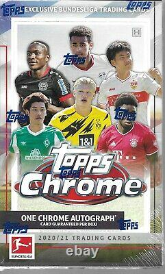 2020-21 Topps Chrome Exclusive Bundesliga Trading Cards HOBBY BOX qty available