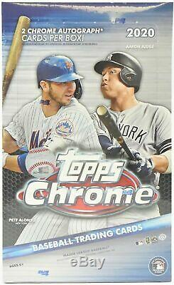 2020 Topps Chrome Baseball Factory Sealed Hobby Box