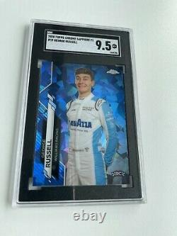 2020 Topps Chrome Sapphire Formula 1 George Russell 19 F1 RC SGC 9.5 Mint+