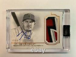 2020 Topps Dynasty Mike Trout Autograph Patch Game Worn Patch Auto 3/10 Angels