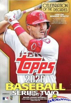 2020 Topps Series 2 Baseball EXCLUSIVE Hanger Case-8 Factory Sealed Box-536 Card