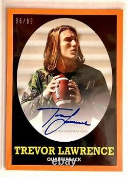 2021 Topps X Trevor Lawrence On Card Auto Rookie #86/99 582 Montgomery Club Rc