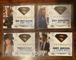 4 x Topps 2006 Superman Returns Movie AUTOGRAPHED Trading Cards Marsden Bosworth