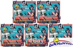 (5) 2017 Donruss Football EXCLUSIVE Factory Sealed MEGA Boxes with15 HOBBY PACKS