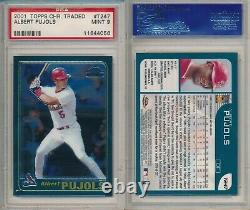 Albert Pujols ANGELS 2001 Topps Chrome Traded #T247 Rookie Card Rc PSA 9 Mint