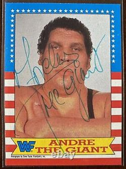 Andre The Giant 1987 Topps #2 WrestleMania 3 Autograph WWF WWE RARE
