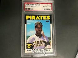 Barry Bonds 1986 Topps Traded Rookie Card RC #11t PSA 10 Gem Mint Pirates