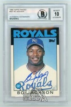 Bo Jackson 1986 Topps Traded Autographed Card #50T BAS 10