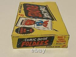 Comic Book Foldees 1966 Topps Vintage 5 Cent Bubble Gum Trading Card Empty Box