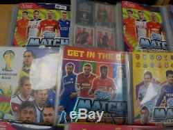 Football Trading Cards Match Attax & More 15 Binders ID6996