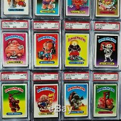 GARBAGE PAIL KIDS 1985 1st Series Complete MATTE Set 82 Cards PSA Graded 8.3 Avg