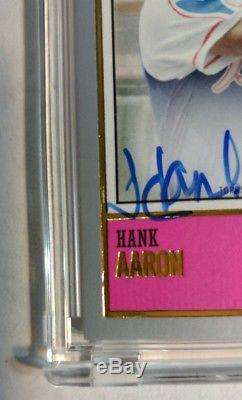 Hank Aaron 2018 Topps 582 Montgomery Club Brooklyn Collection Auto 1/1