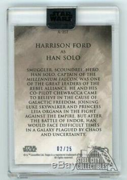 Harrison Ford Han Solo 2018 Topps Star Wars Stellar Signatures Autograph 02/25