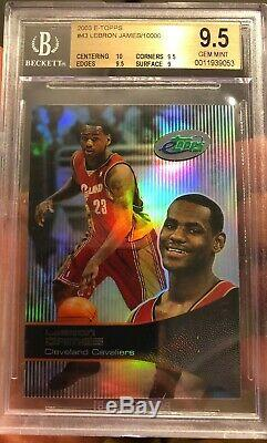 Hot 2003 LeBron James Rookie Topps ETopps Gem Mint 9.5 BGS 10 Sub #10000 SP