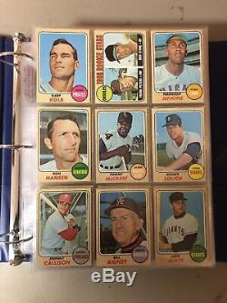 Huge Vintage Baseball Sports Card Lot 1968 Topps Graded And Ungraded
